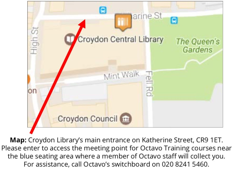 Map showing library