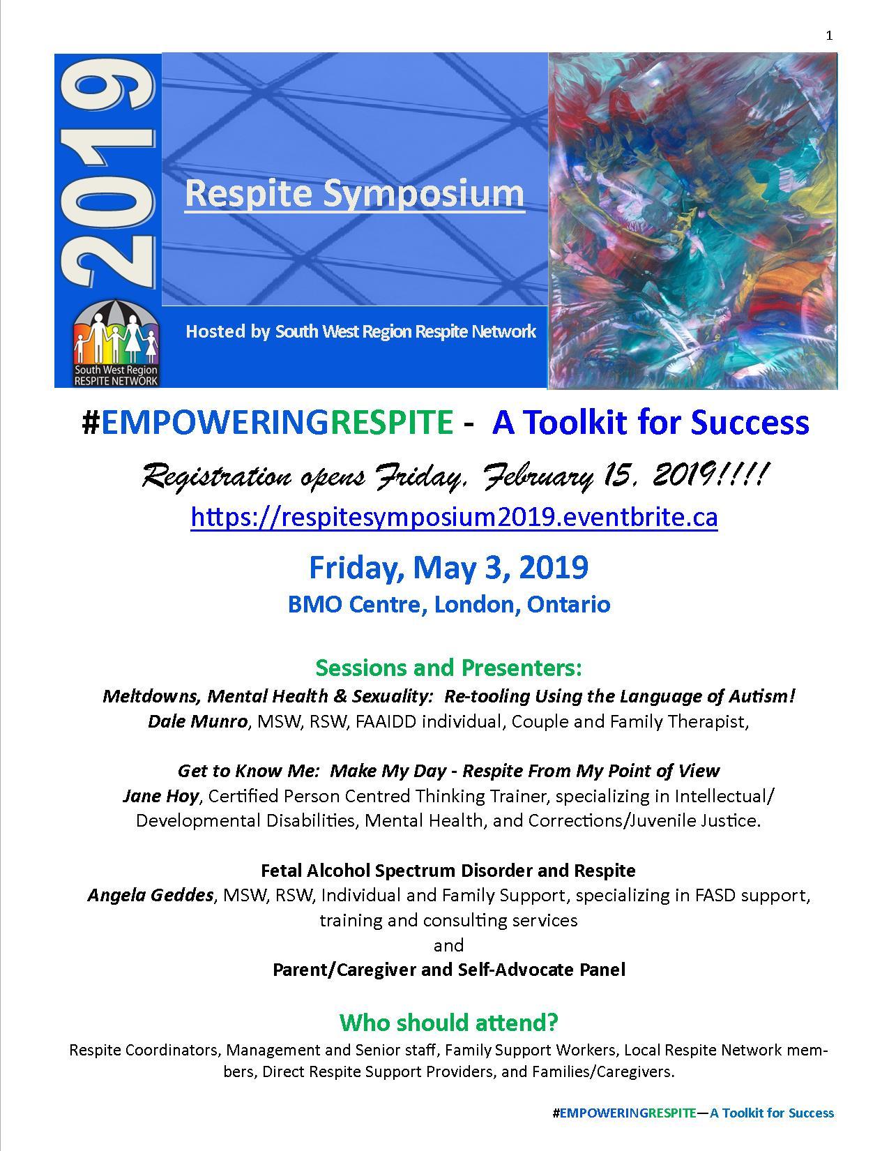 Respite Symposium 2019 Flyer