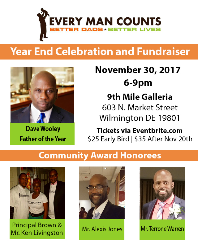 Every Man Counts Year End Celebration & Fundraiser @ 9th Mile Galleria | Wilmington | Delaware | United States
