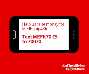 Donate by texting MEFK70 £5 to 70070