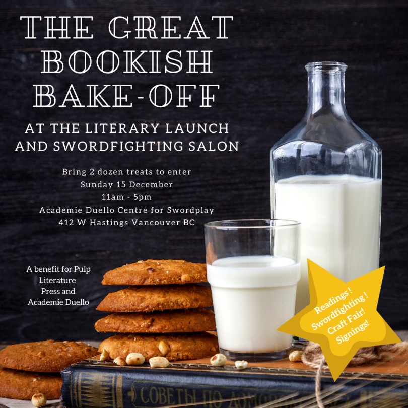 cookies, milk, and books