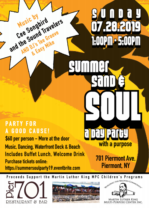 Summer Sand and Soul 2019 Flyer