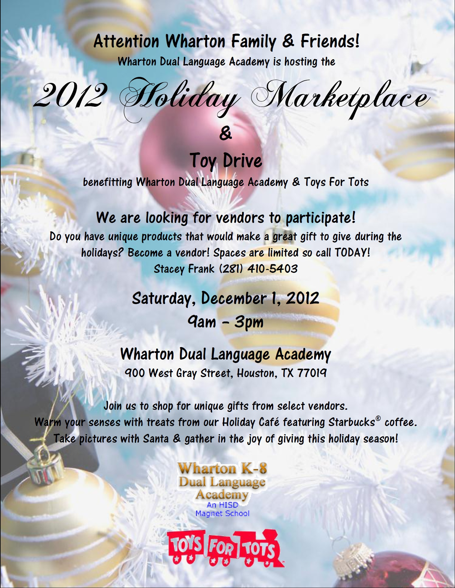 Holiday Marketplace Toy Drive