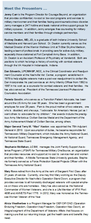 Serving Military Families-Speakers