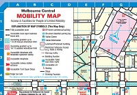 Mobility map Melbourne CBD