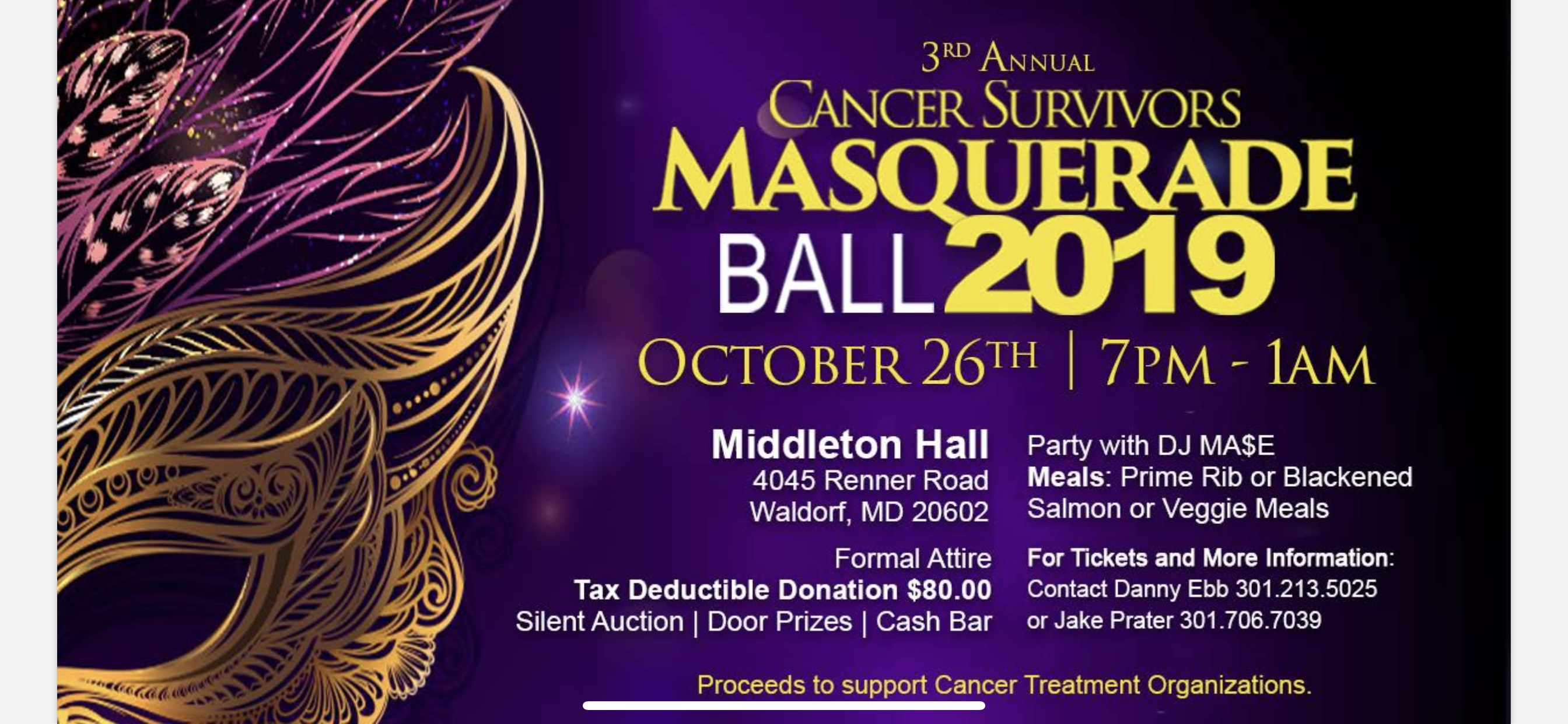 Cancer Survivors Masquerade Ball 2019 Tickets, Sat, Oct 26