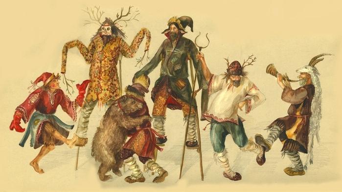 Maslenitsa Parade Characters