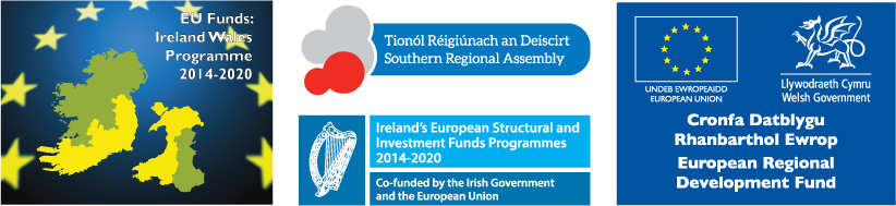 Supported by the European Regional Development Fund through the Ireland Wales Cooperation programme