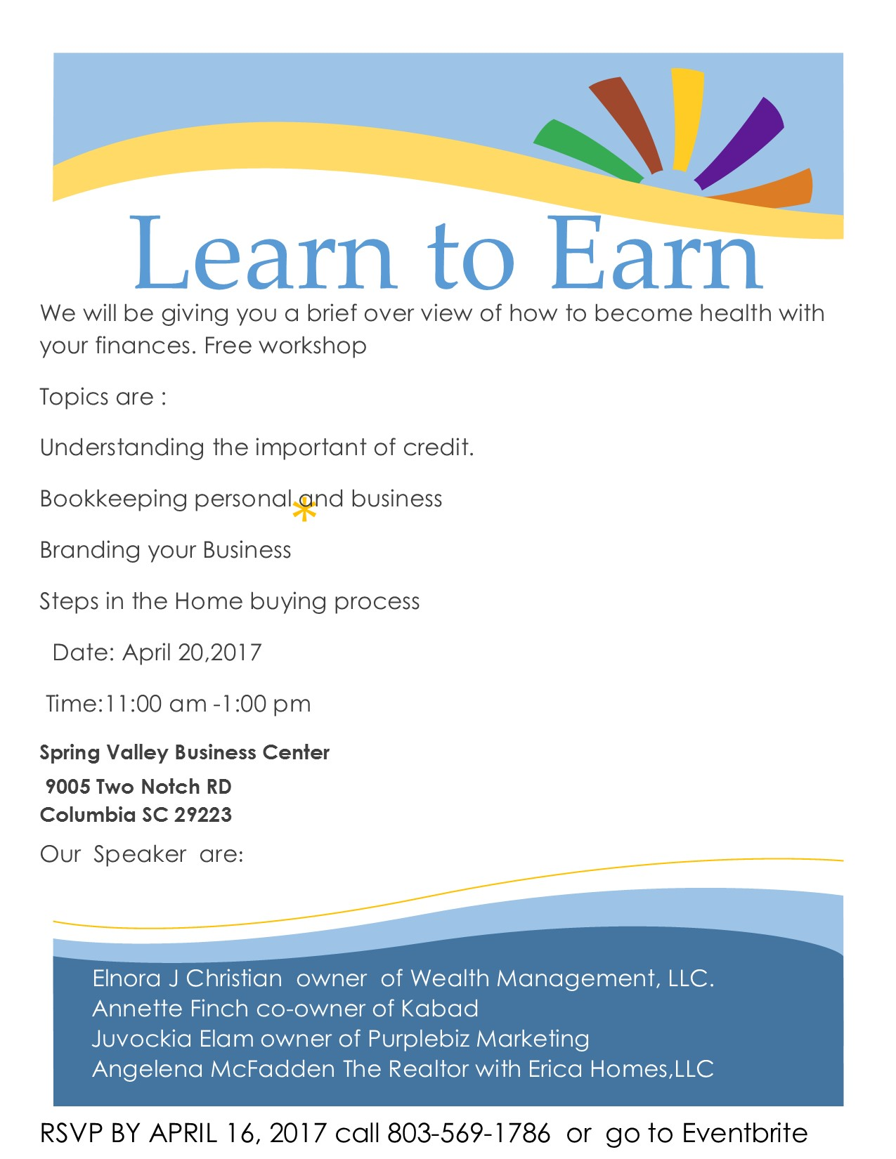 Learn To Earn Tickets, Wed, Apr 26, 2017 At 11:00 AM