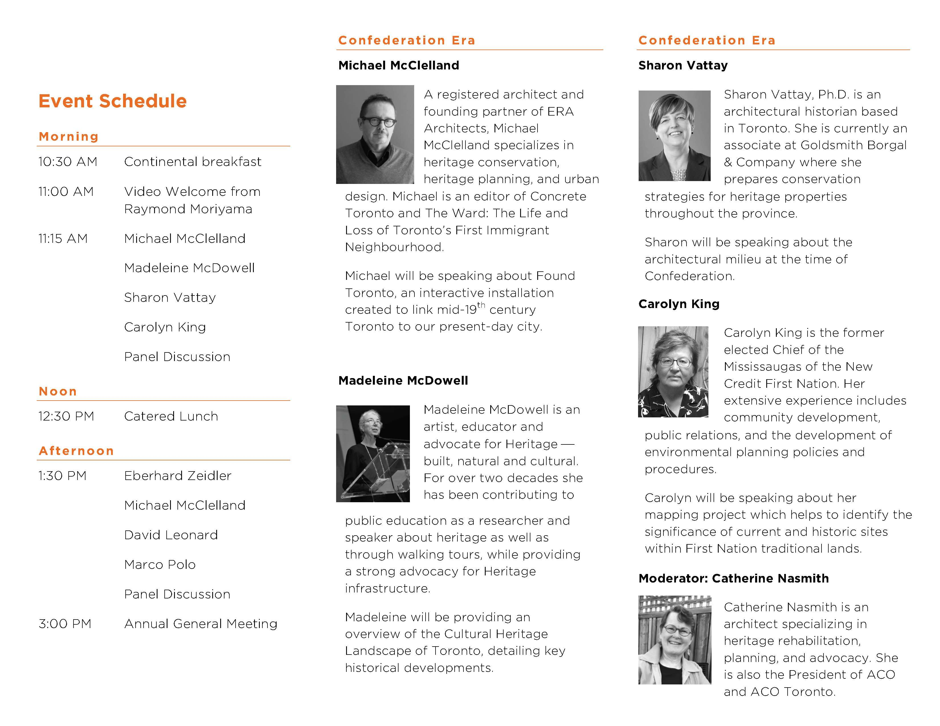 Event Brochure Page 2