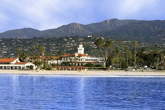 Beach image of Santa Barbara and Hyatt Centric Santa Barbara hotel.
