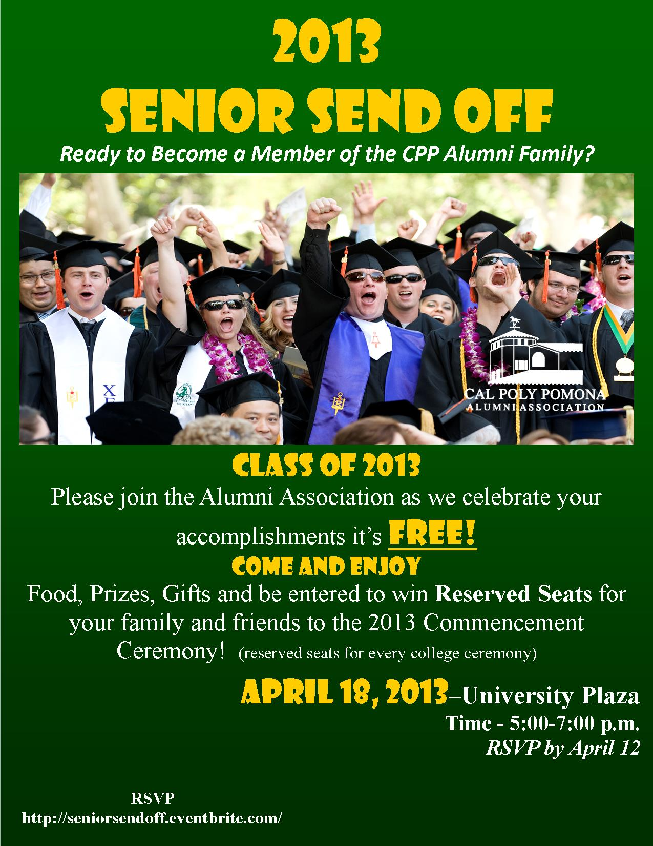 Graduates Celebrating - Invitation to Senior Send Off 2013