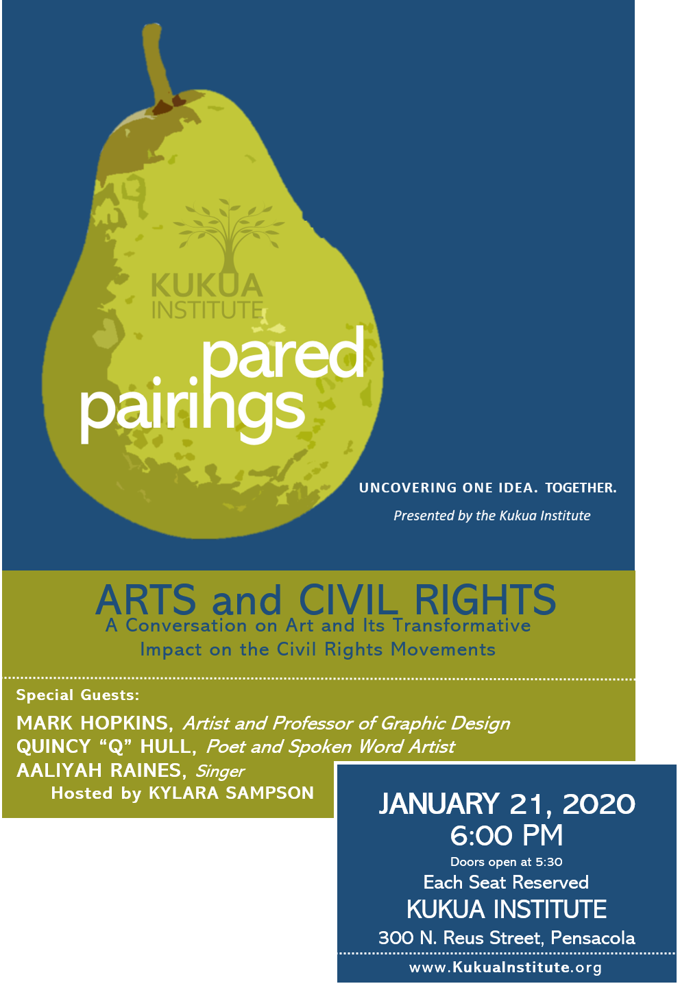 Pared Pairings Flyer - January 21 2020