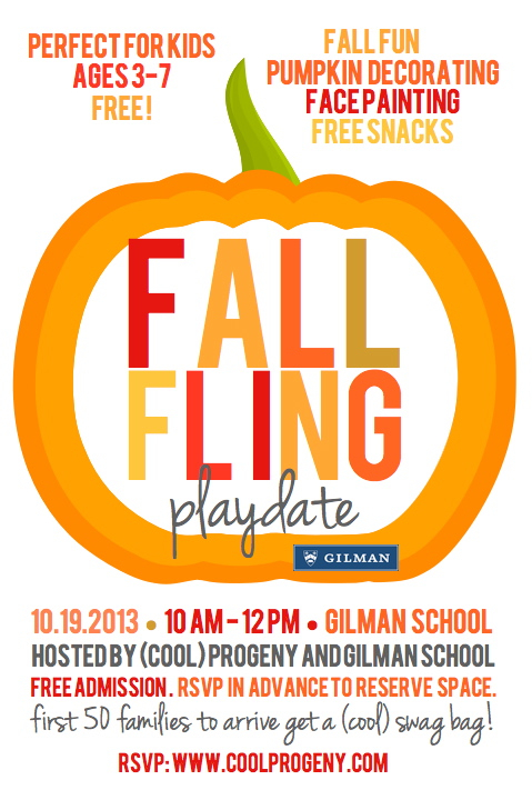 (cool) progeny playdate: fall fling at gilman school!