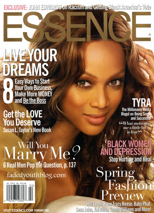 Matthew Jordan Smith Tyra Banks Essence Cover