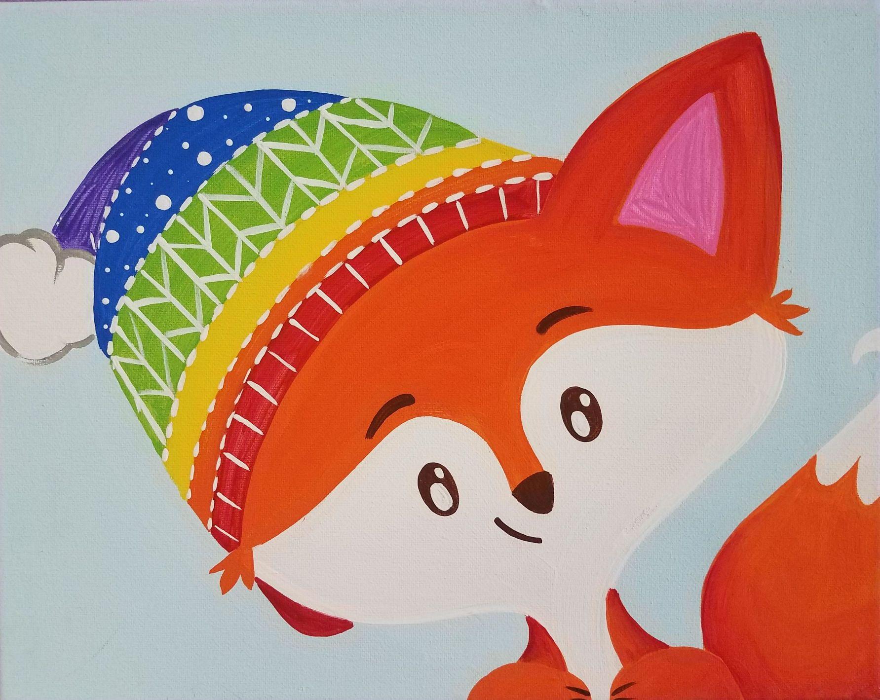 Winter Fox Canvas