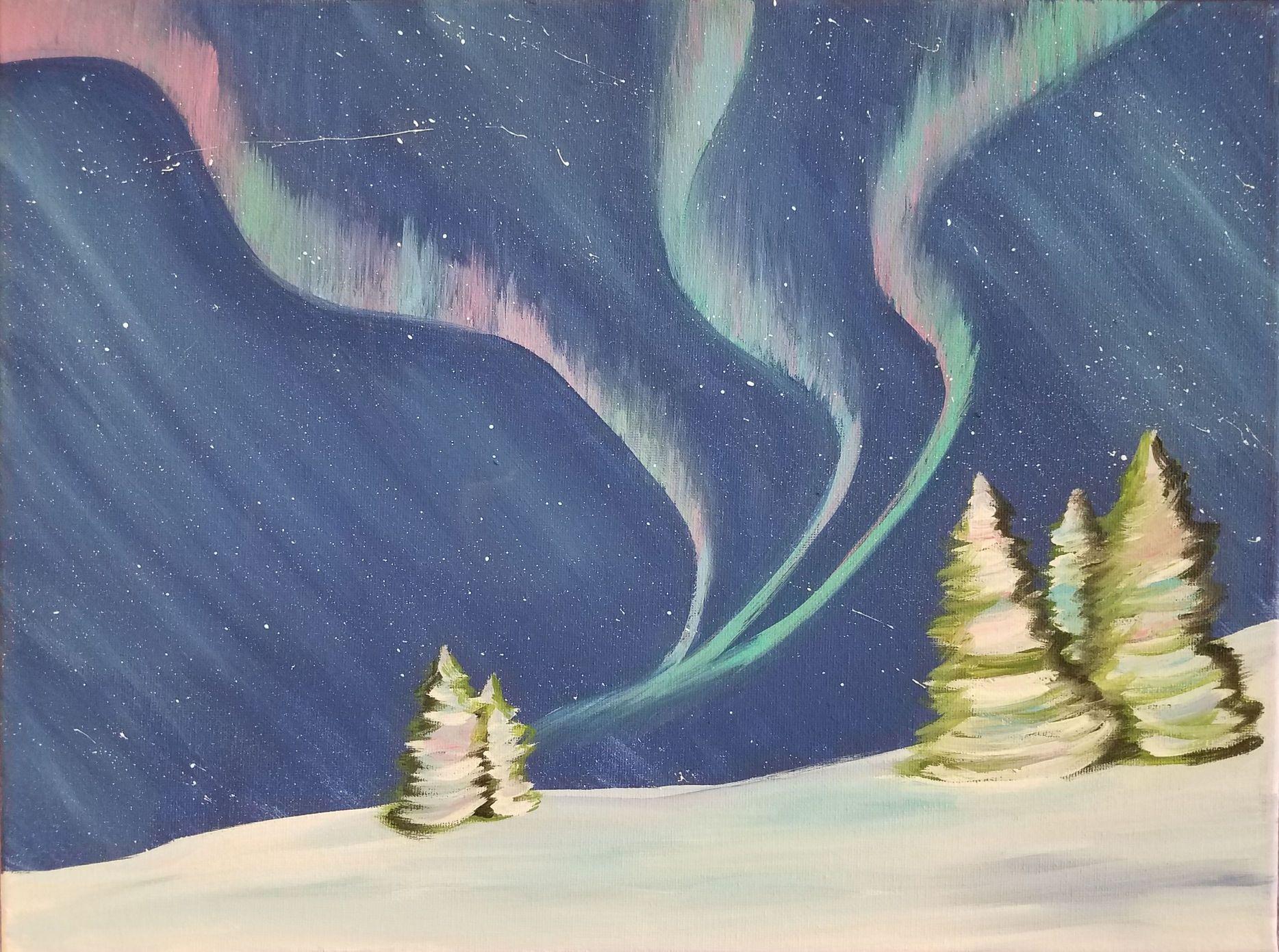 Aurora Borealis Canvas