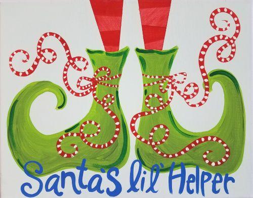 Santa's Lil' Helper Canvas