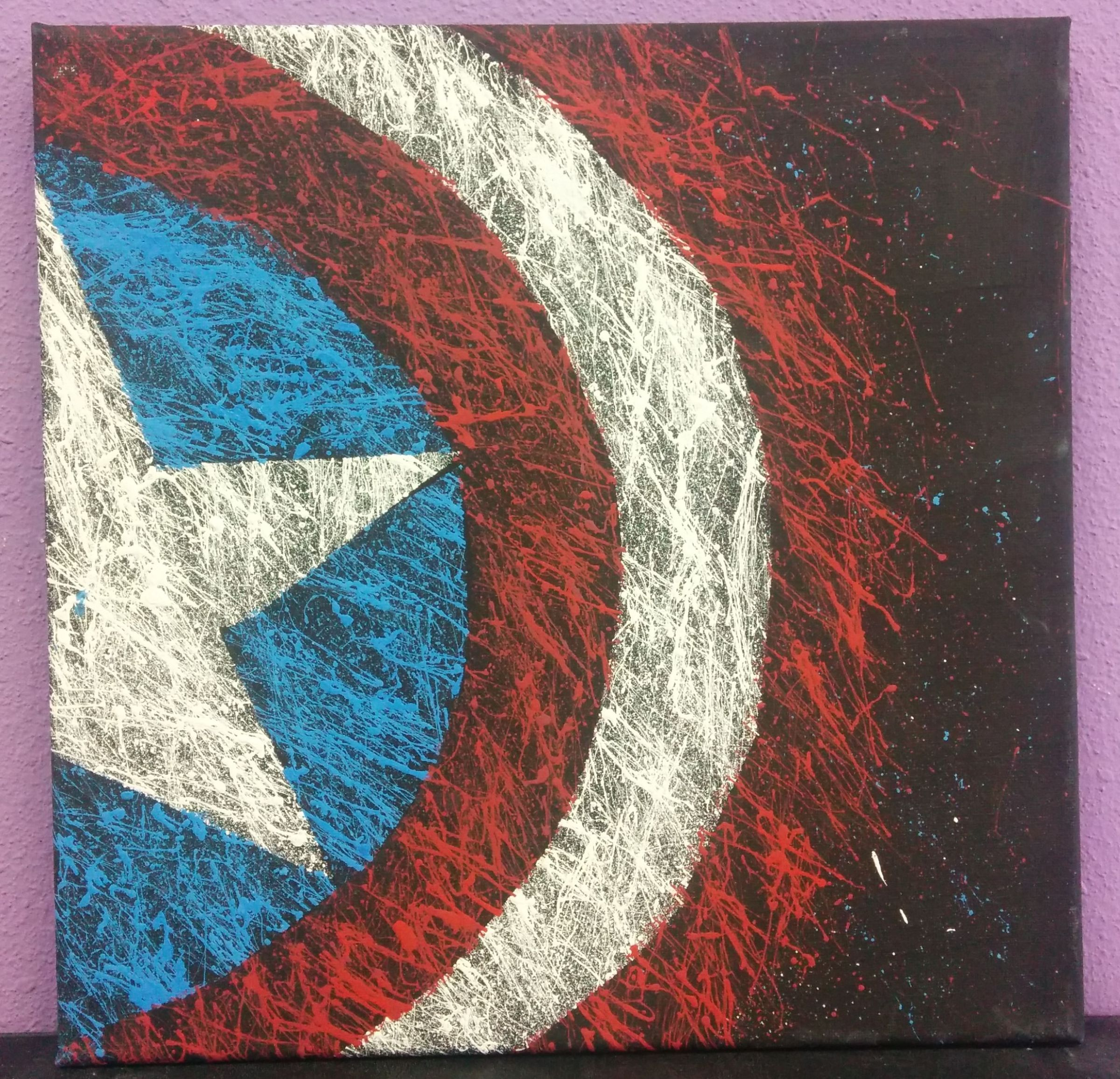 Summer art class captain america canvas tickets for Canvas painting classes