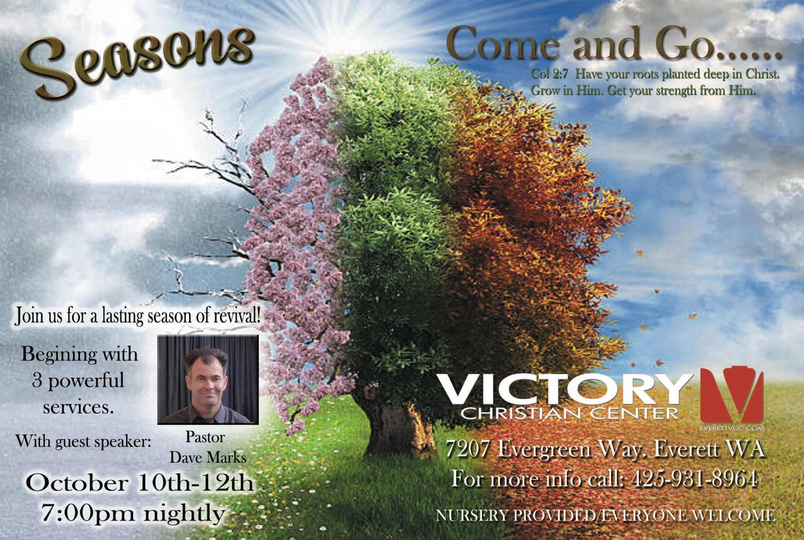 Revival Services October 10 thru 12, 7pm nightly