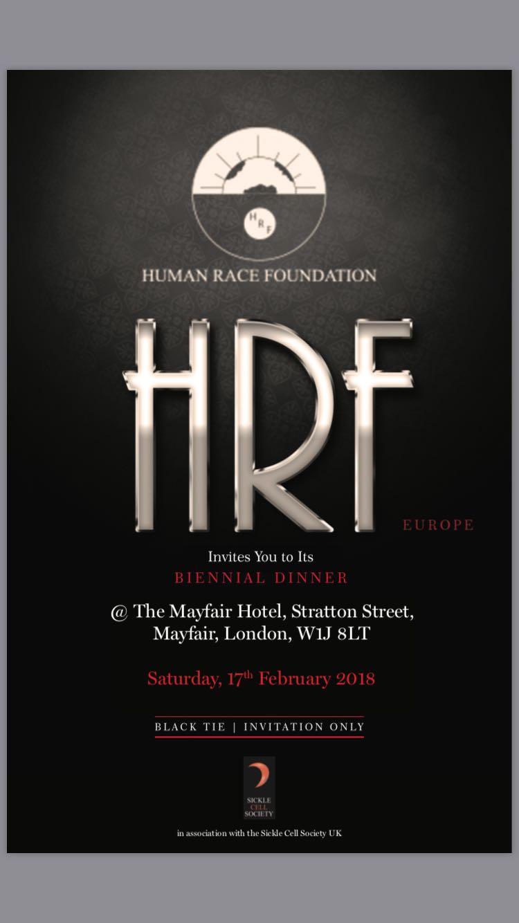 HRF Charity Dinner Invitation