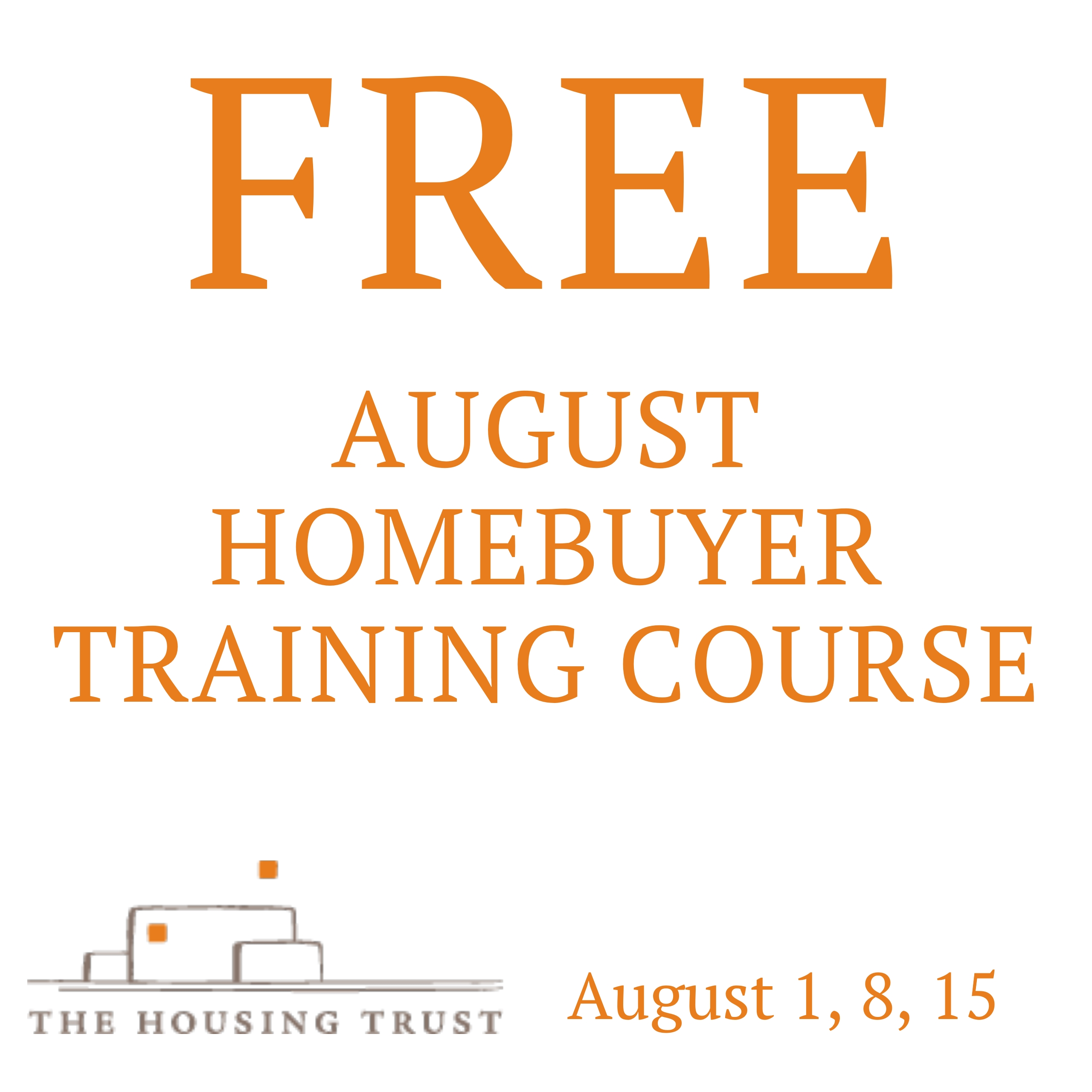 August 2019 Homebuyer training course