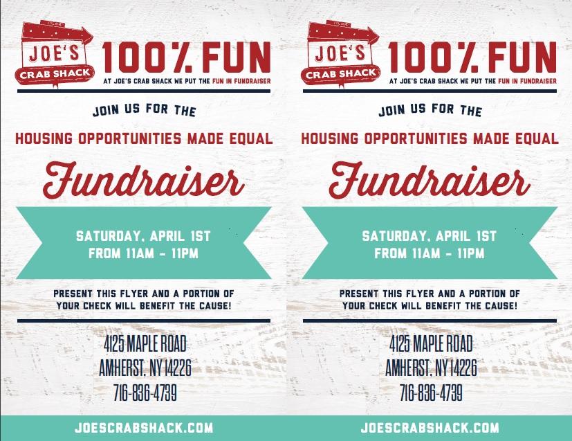 Joe's Crab Shack Fundraising Flyer