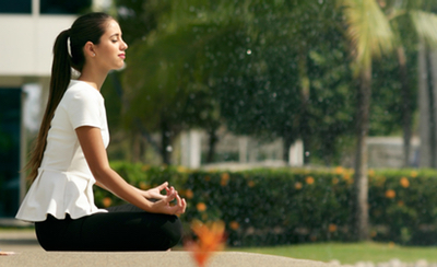 Woman meditator