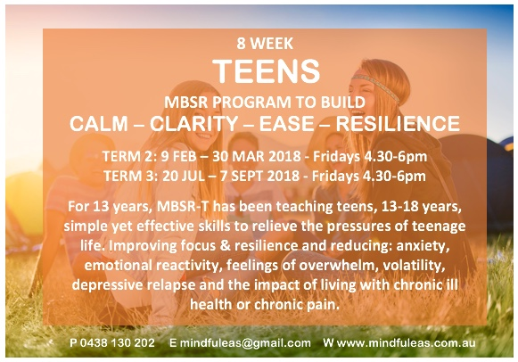 Teens - Calm, Clarity, Resilience, Ease