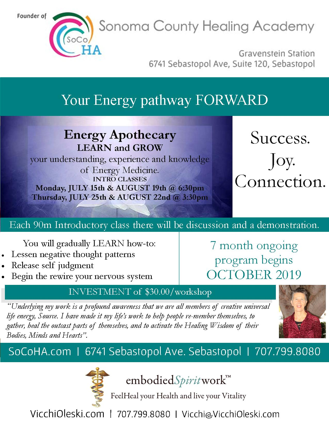 Intro Classes, Energy Apothecary