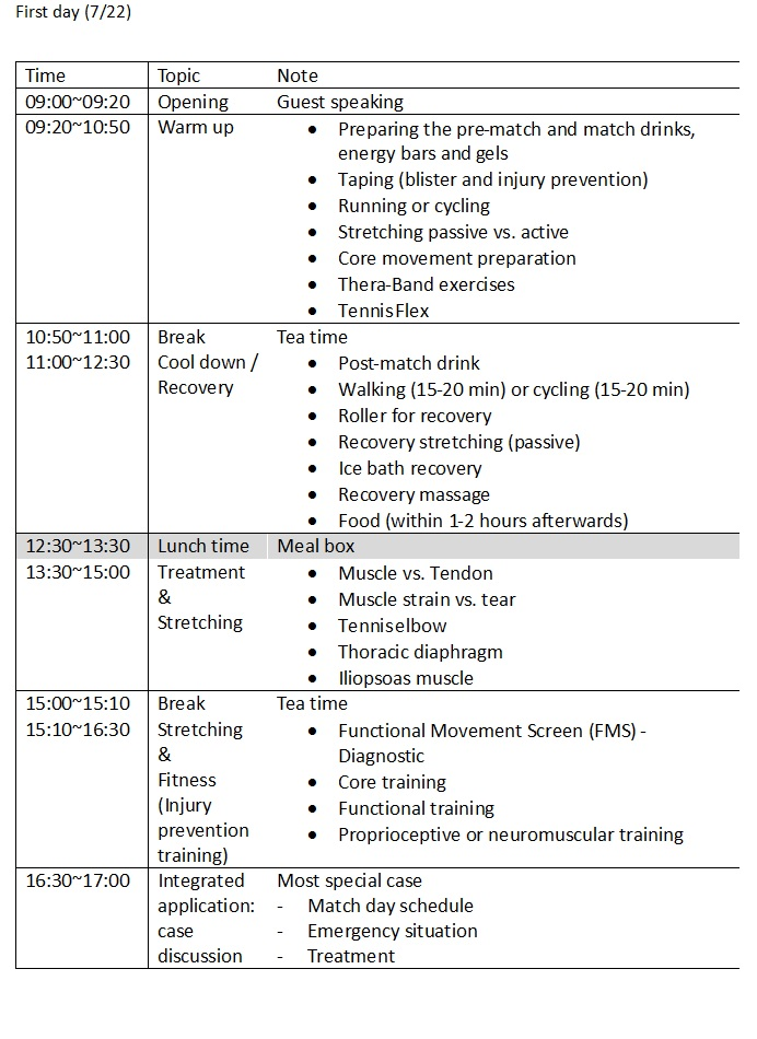 timetable day1