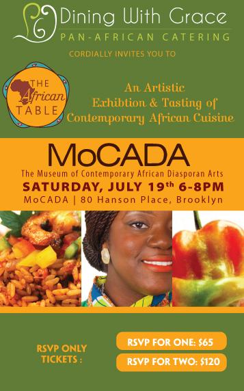 The African Table MoCADA 071914 Flyer