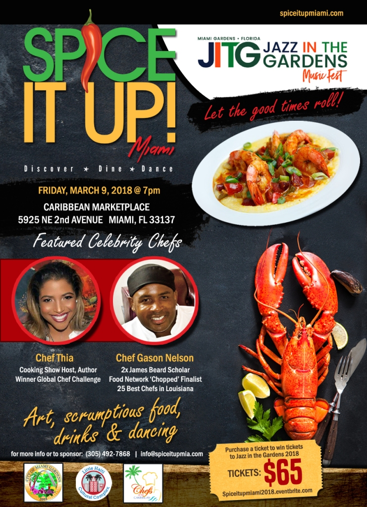 Spice it Up! Miami Jazz in the Gardens Edition flyer