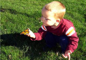 Child with butterfly