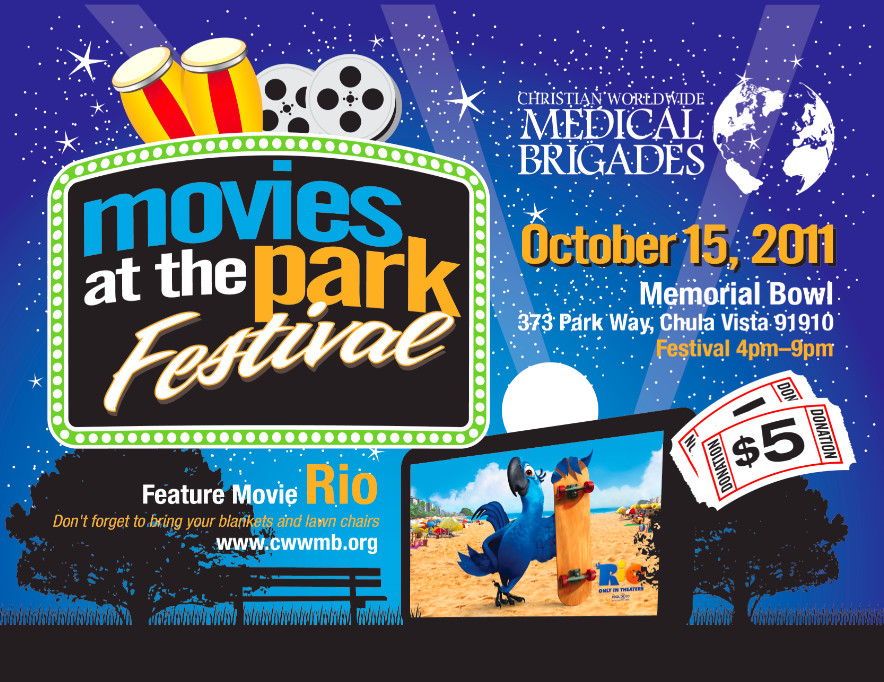 Movies at the Park Festival- Oct 15th 4-9pm
