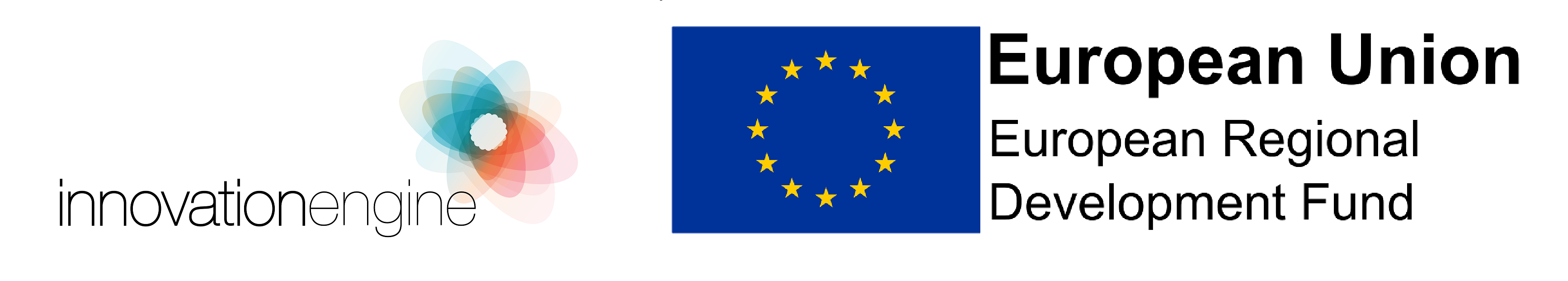 Innovation Engine Project logo, ERDF logo