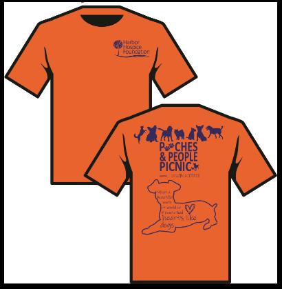 Image of Heather Orange Shirt with Logo Design