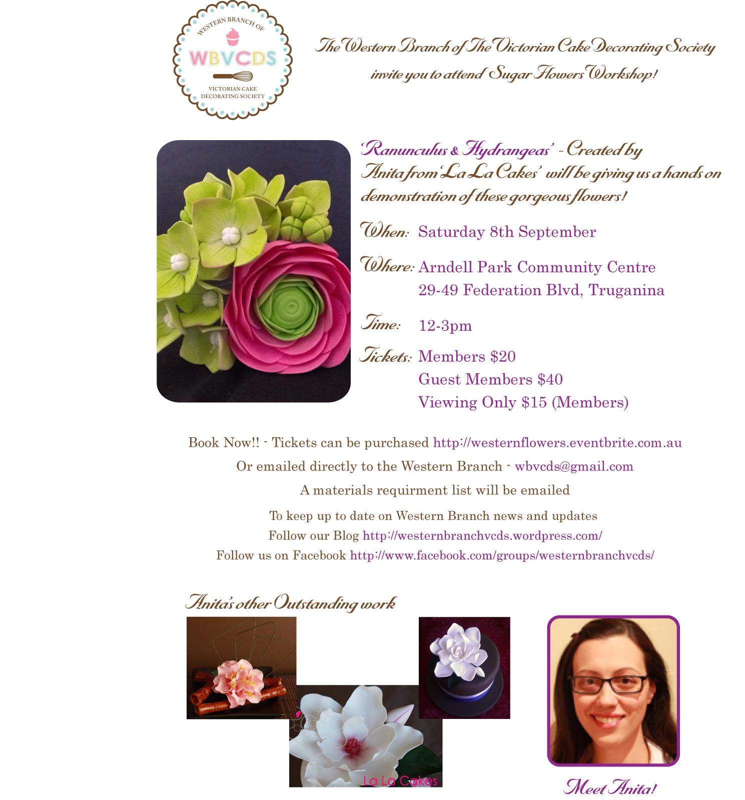 Ranunculus and Hydrangea Workshop with Anita Blume Tickets ...