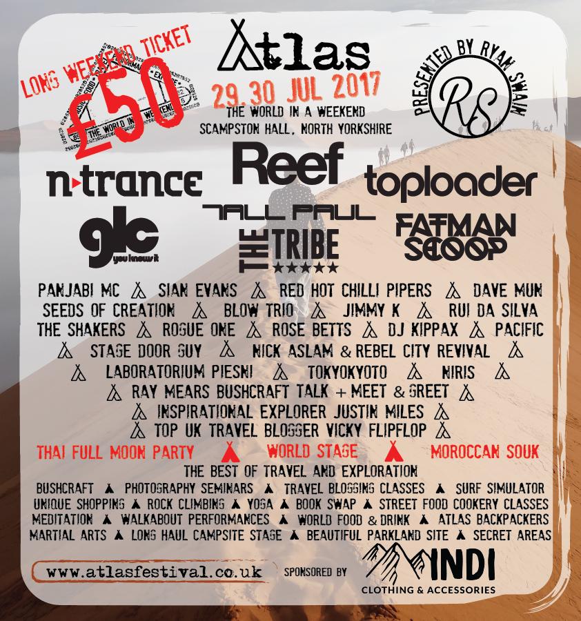 Atlas Festival Lineup Poster