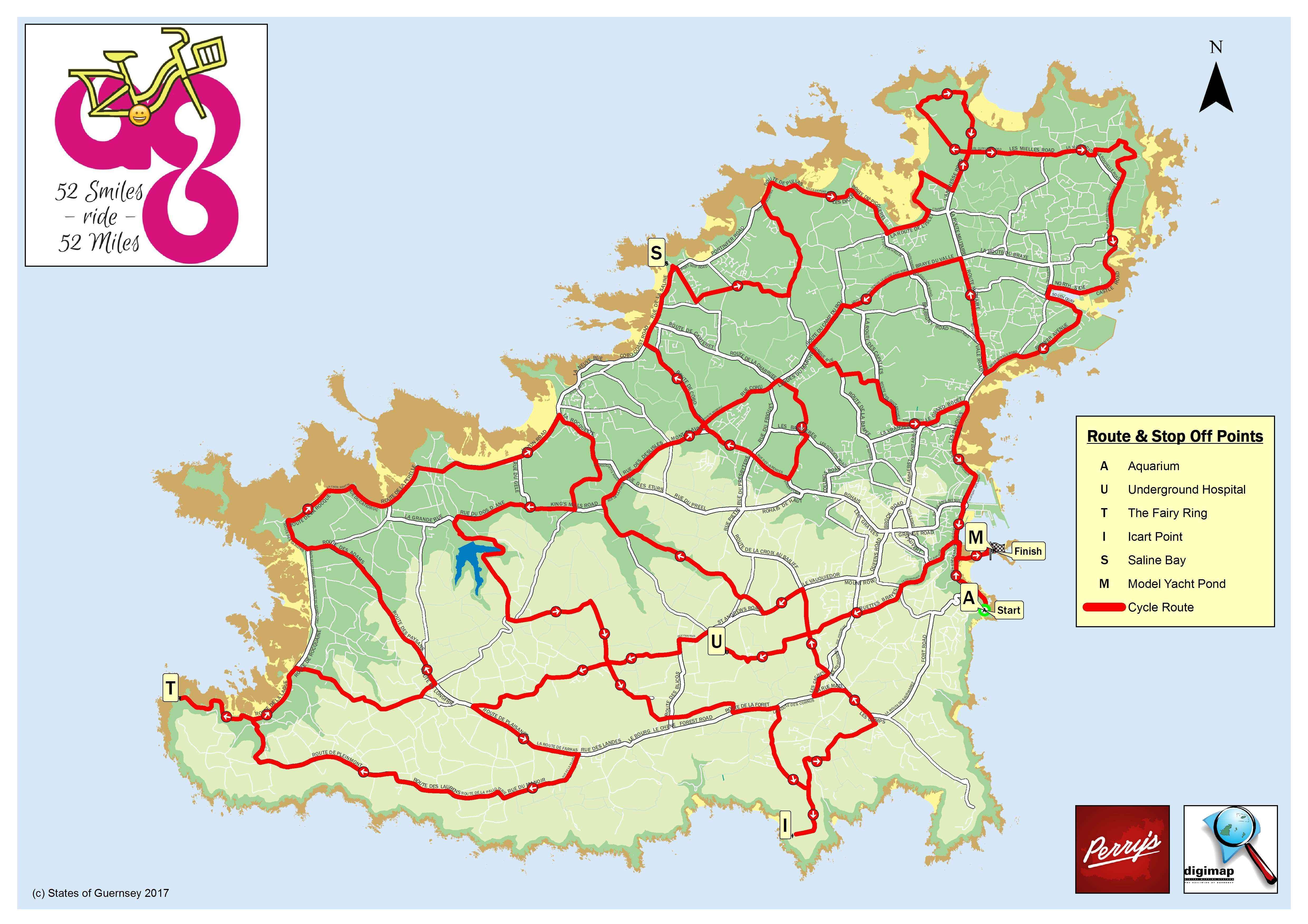 52 Mile Route