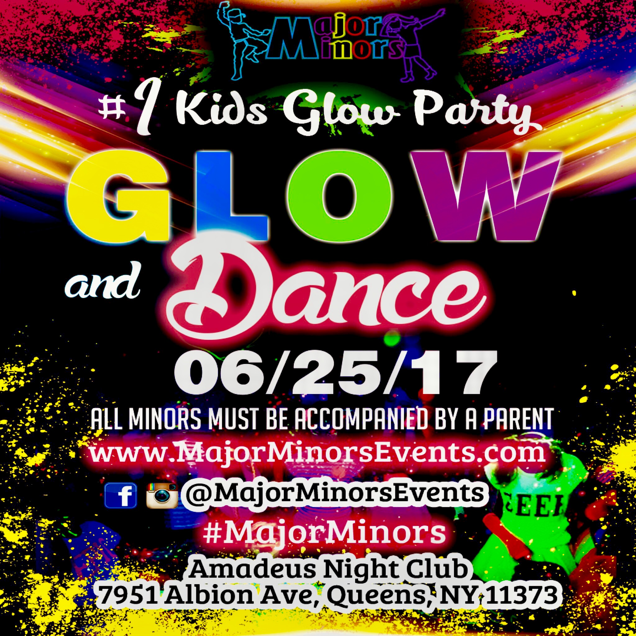 Glow and Dance Kids Party