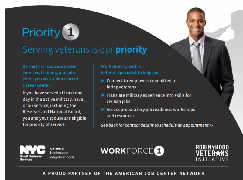 Veterans Priority1 Services at Workforce1 Tickets, Tue, Aug