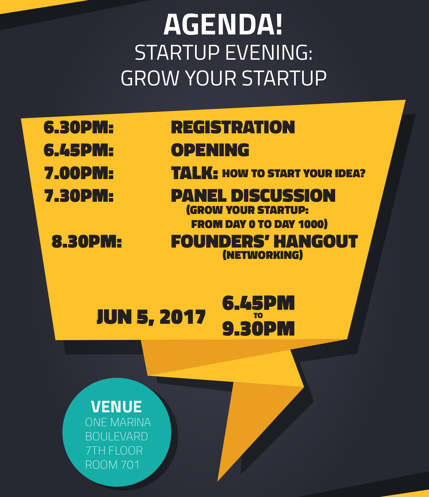 Grow Your Startup Agenda