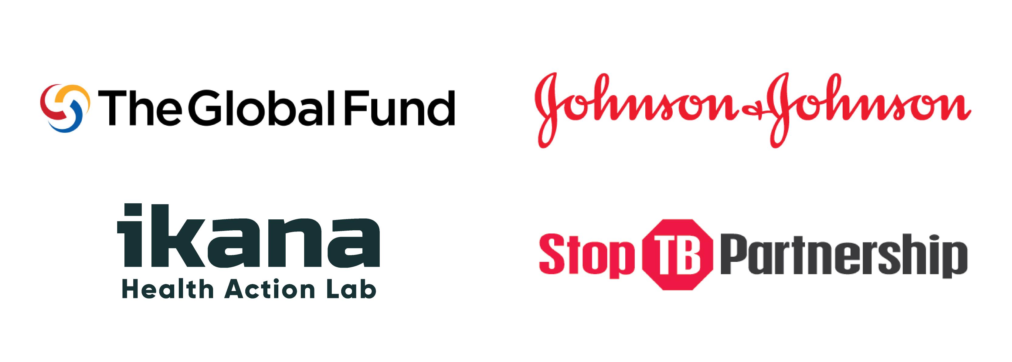 Logos: Johnson & Johnson, The Global Fund, Stop TB Partnership, Ikana Health Action Lab