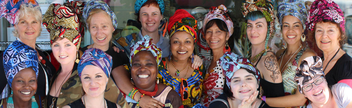 space2b african headwrap workshop