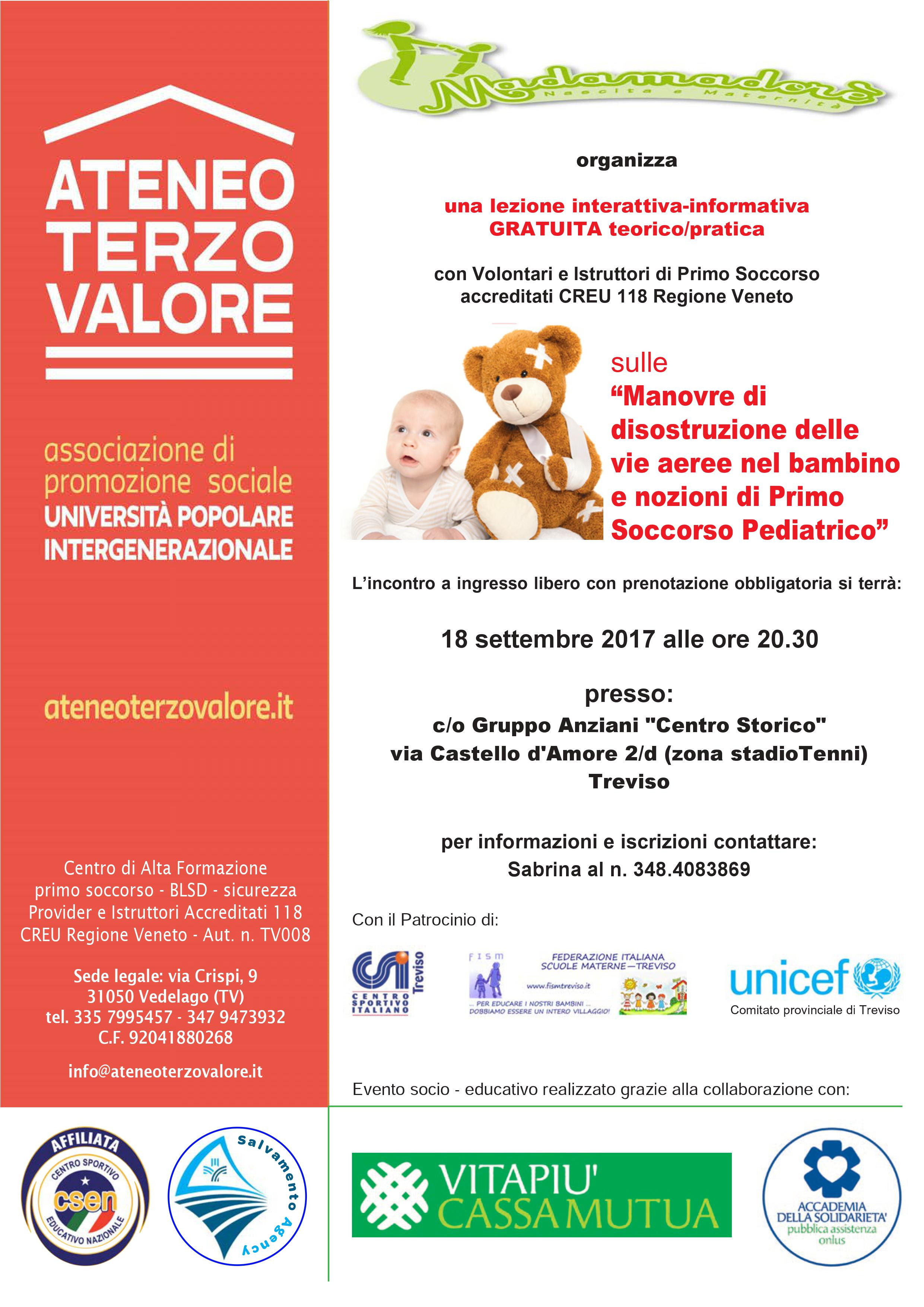 Disostruzione Pediatrica Treviso Ateneo Terzo Valore