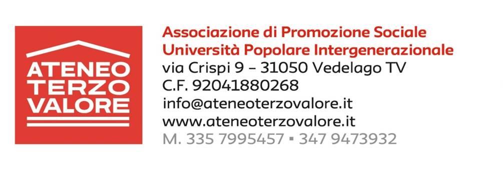 Ateneo Terzo Valore Associazione di Promozione Sociale Vedelago Treviso Veneto