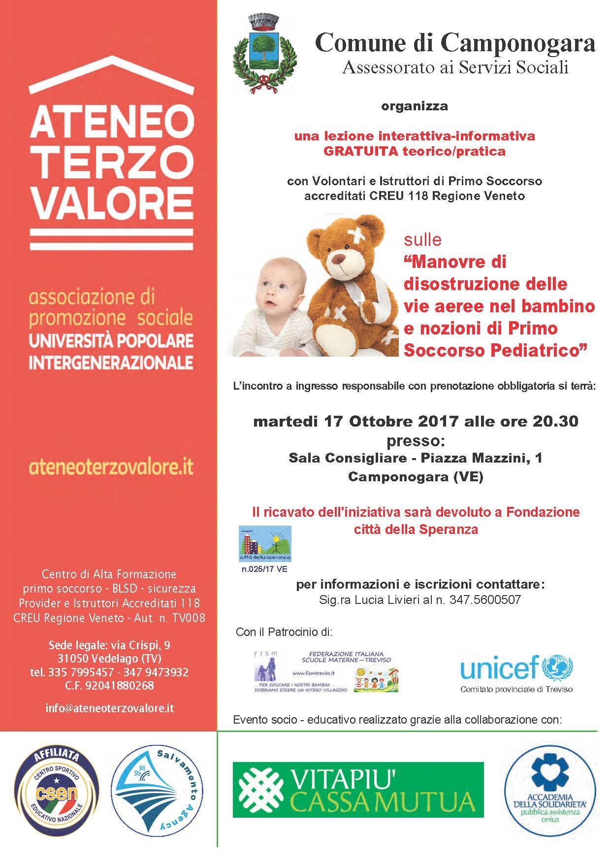 Manovre Disostruzione Pediatriche CAMPONOGARA VENEZIA