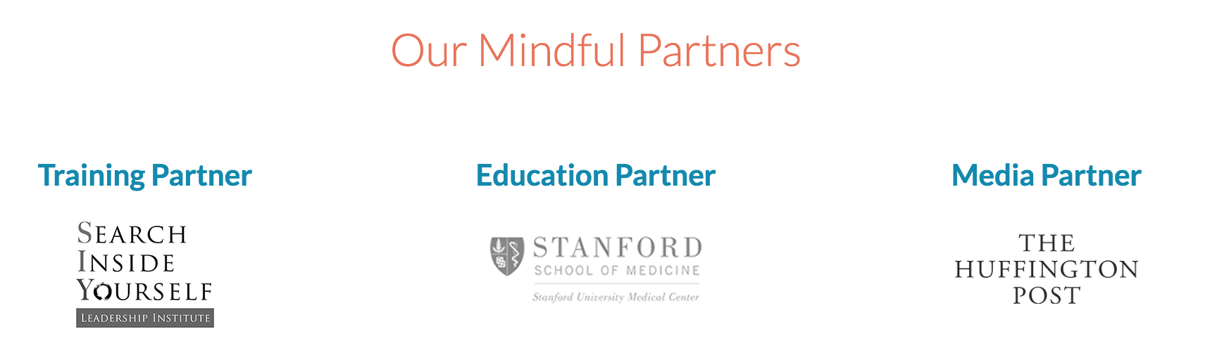 Our Mindful Partners | SIYLI, Stanford, HuffingtonPost