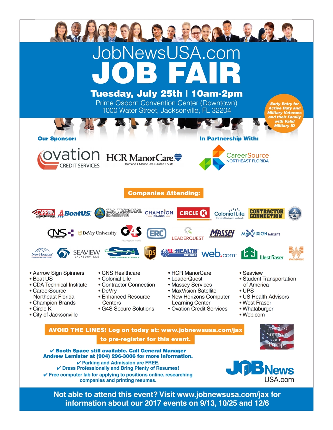 Huge career fair tickets tue jul 25 2017 at 1000 am eventbrite huge jacksonville career fair xflitez Choice Image